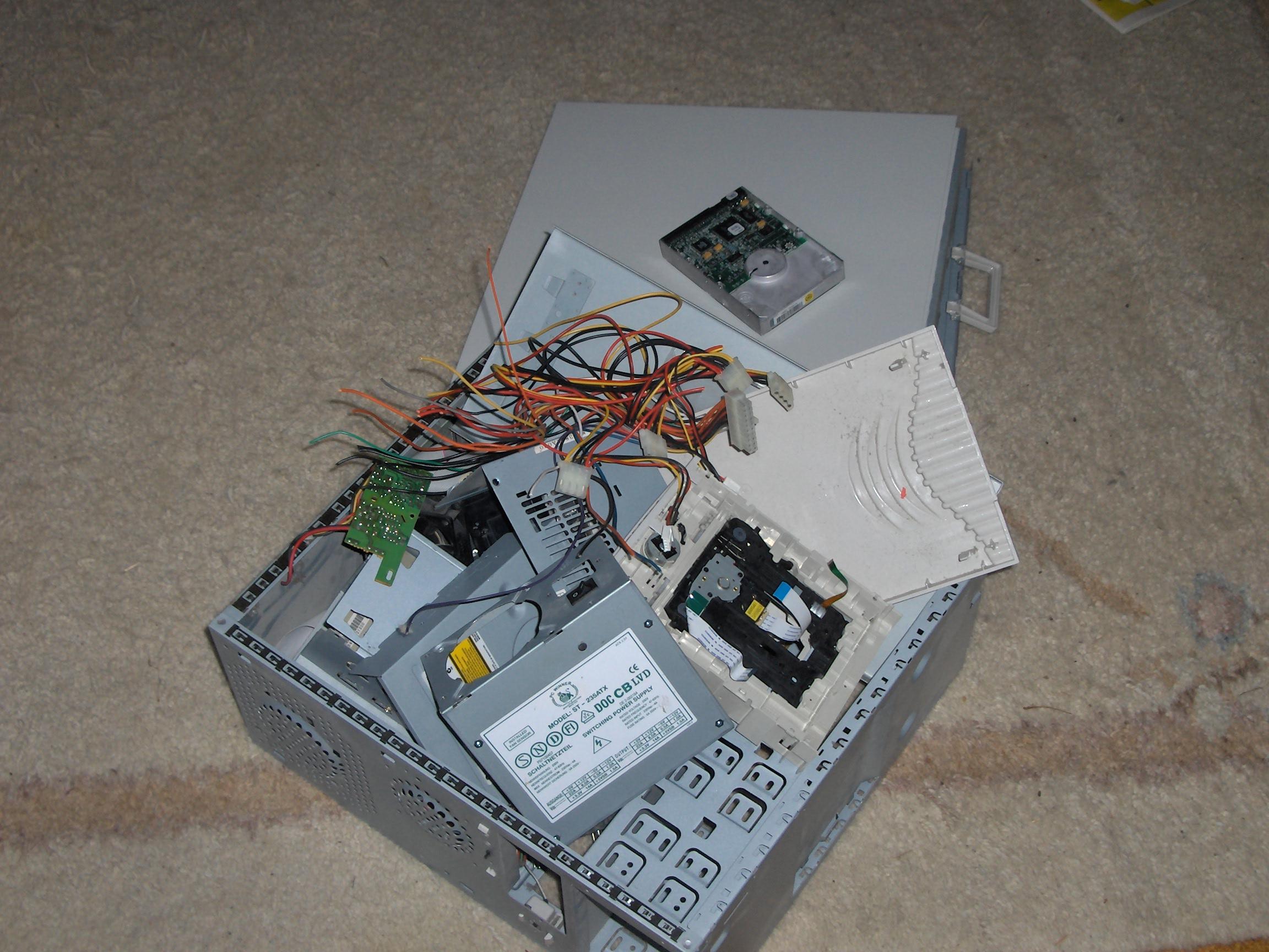 Festplatte vor Zertrümmerung